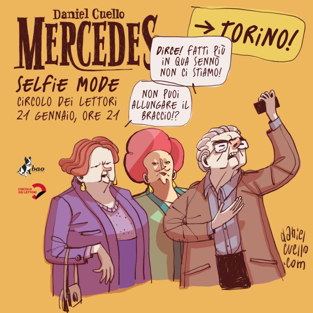 Mercedes in selfie mode