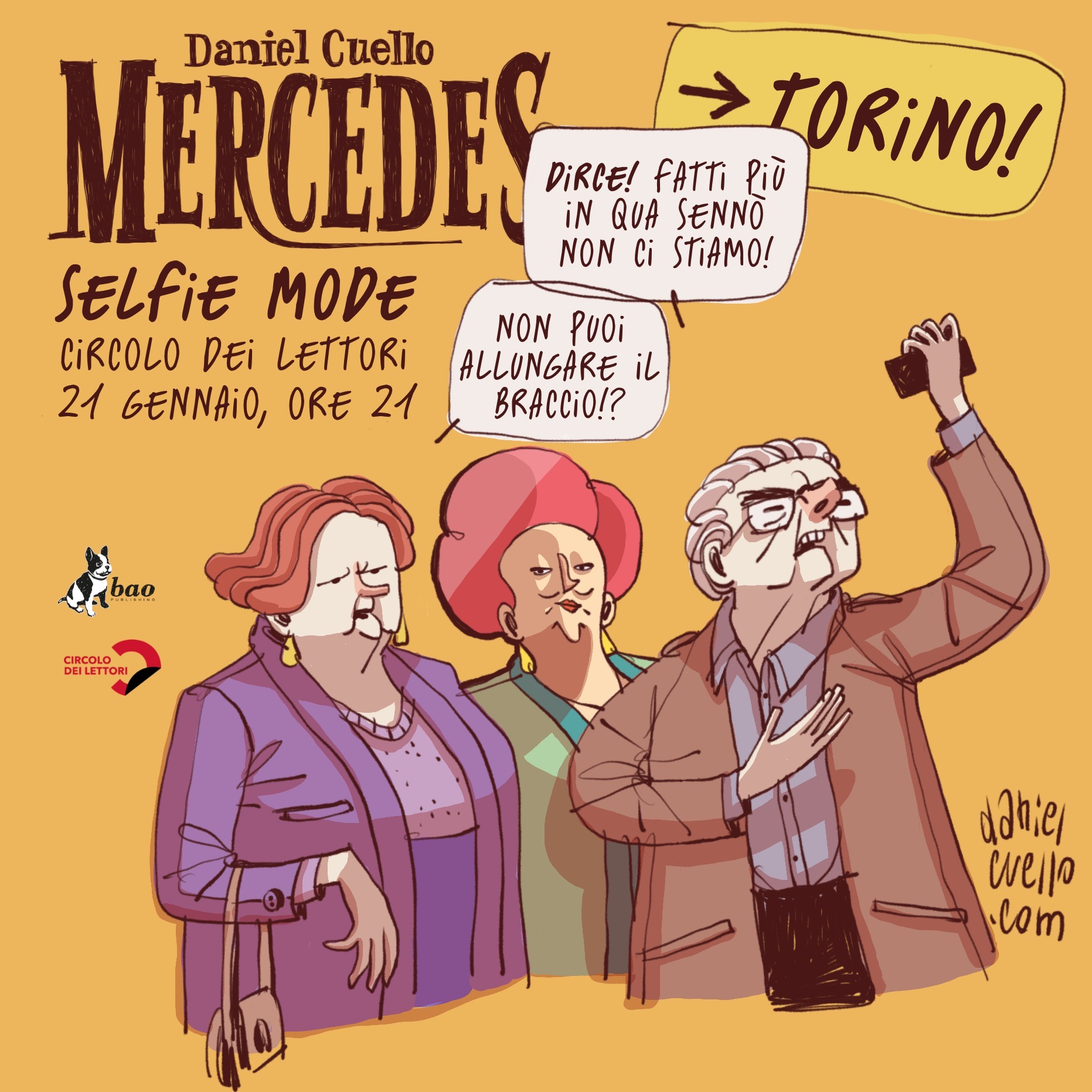 Mercedes in selfie mode